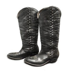 Golden Goose Malibu Leather Western Boots EUC 6.5